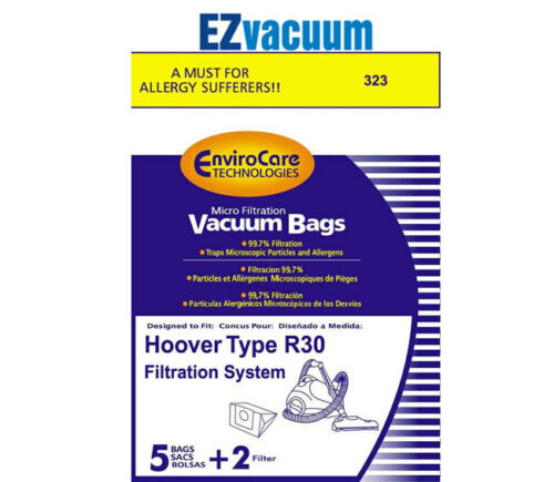 Hoover R30 Vacuum Bags and 2 filters # 40101002