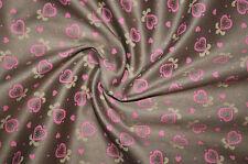 3071/414 Tessuto vestito tirolese Tessuto Costume costume Marrone con Rosa Cuore