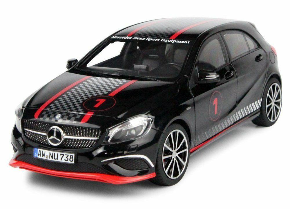 Norev 1 18 2013 Mercedes Benz a Clase Sport con carreras Deco Modelo nero 183596