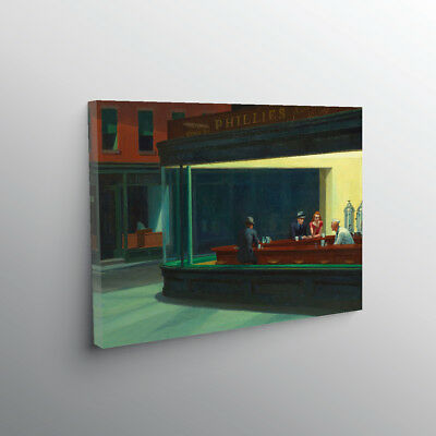 EDWARD HOPPER NIGHTHAWKS GICLEE CANVAS ART *many sizes available!