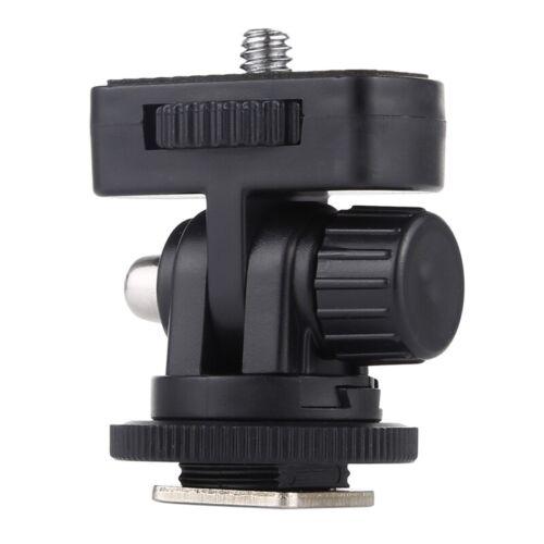 PULUZ 1//4 inch Screw Thread Cold Shoe Tripod Mount Adapter