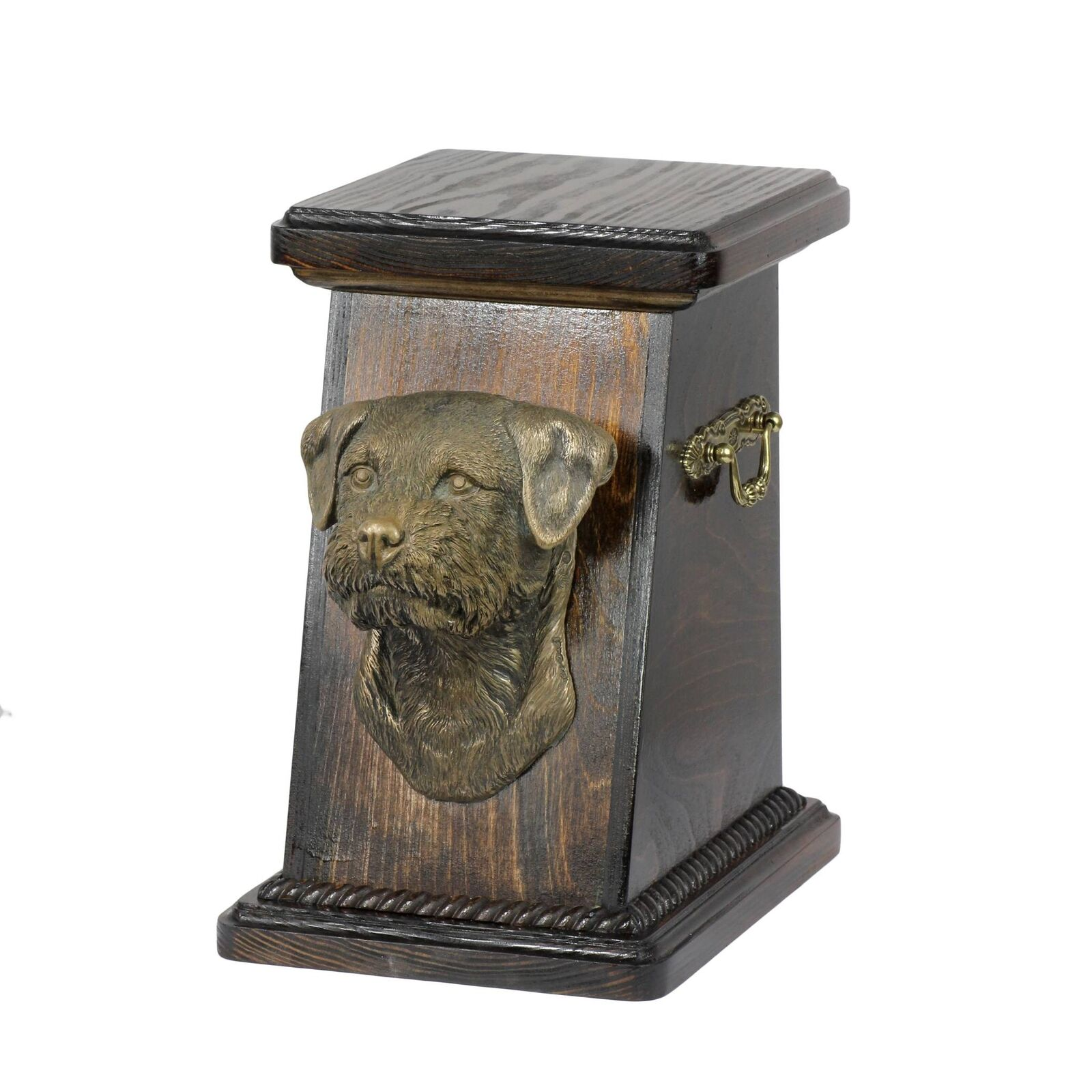 Border Terrier - exclusive urn for dog with statue, Art Dog type 2