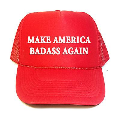 MAKE  AMERICA BADASS AGAIN  TRUMP STICKER President