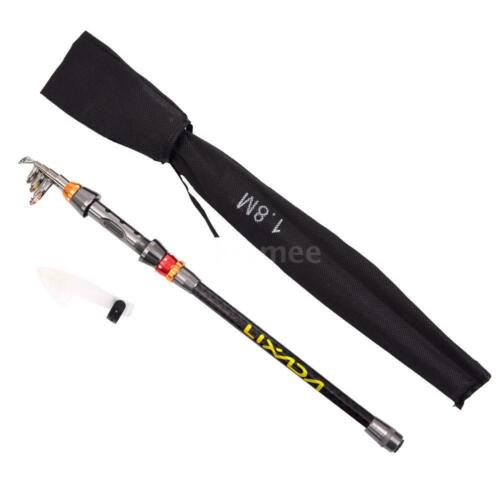 1.8M Portable Telescopic Carbon Fiber Fishing Rod Pole Reel Combo Full Kit N0S8