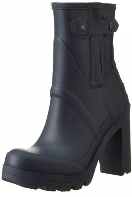 finest selection d39be a22da Hunter high heel welly boots Black [3085] UK 3 EU 36 (HTWFP1022RMA) US 5
