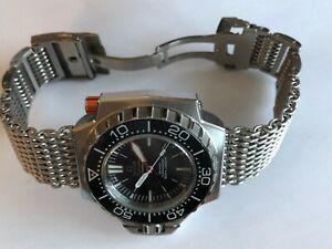 Original-Shark-Mesh-Watch-Bracelet-mit-Links-19mm-passend-fuer-Omega-Seamaster