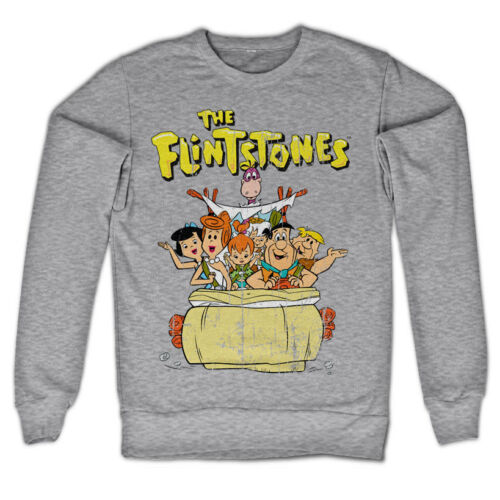 Officially Licensed The Flintstones Sweatshirt S-XXL Sizes