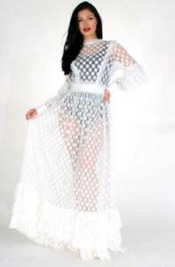 White-Sheer-Polka-Dot-Dress