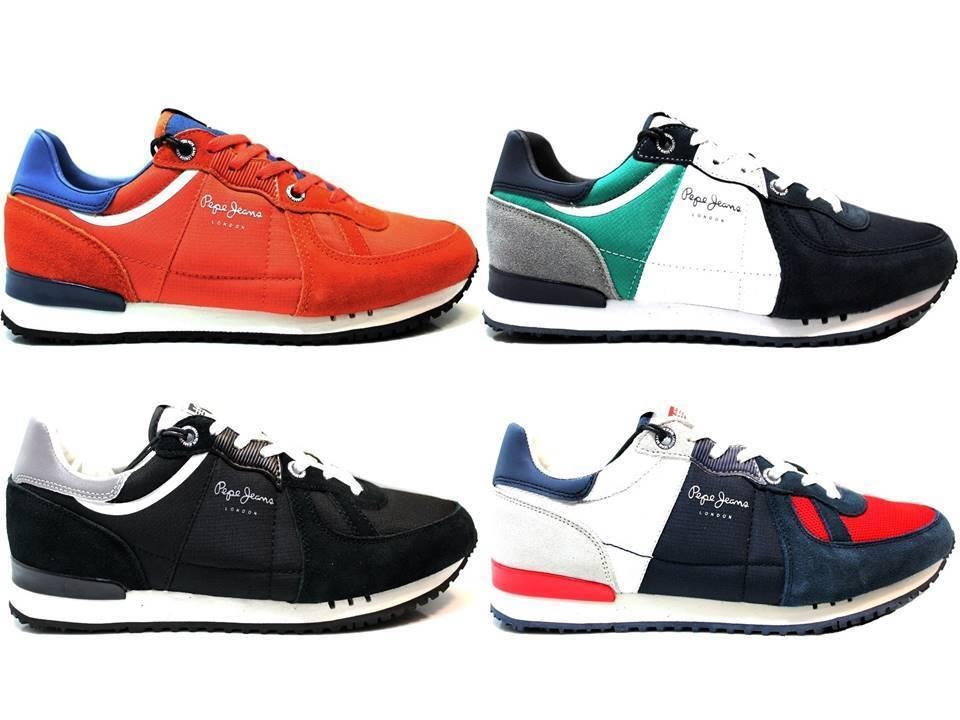 Pepe Jeans London Scarpe PMS30415 Arancio e Nero Scarpe London da Ginnastica Uomo Scarpa Casual Sportiva 1f61a4