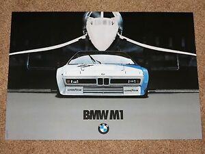 BMW-M1-amp-CONCORDE-POSTER-36-M-MOTORSPORT-ORIGINAL-VINTAGE-in-MINT