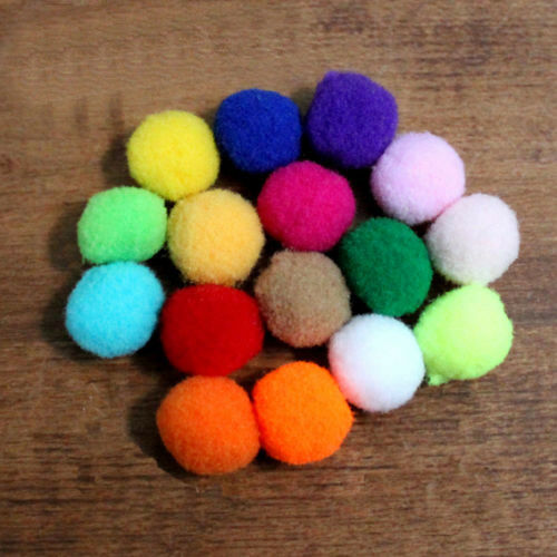 MULTICOLORED or NGB 15 MM Jewelry couture SETS OF 10 POMPONS BALLS