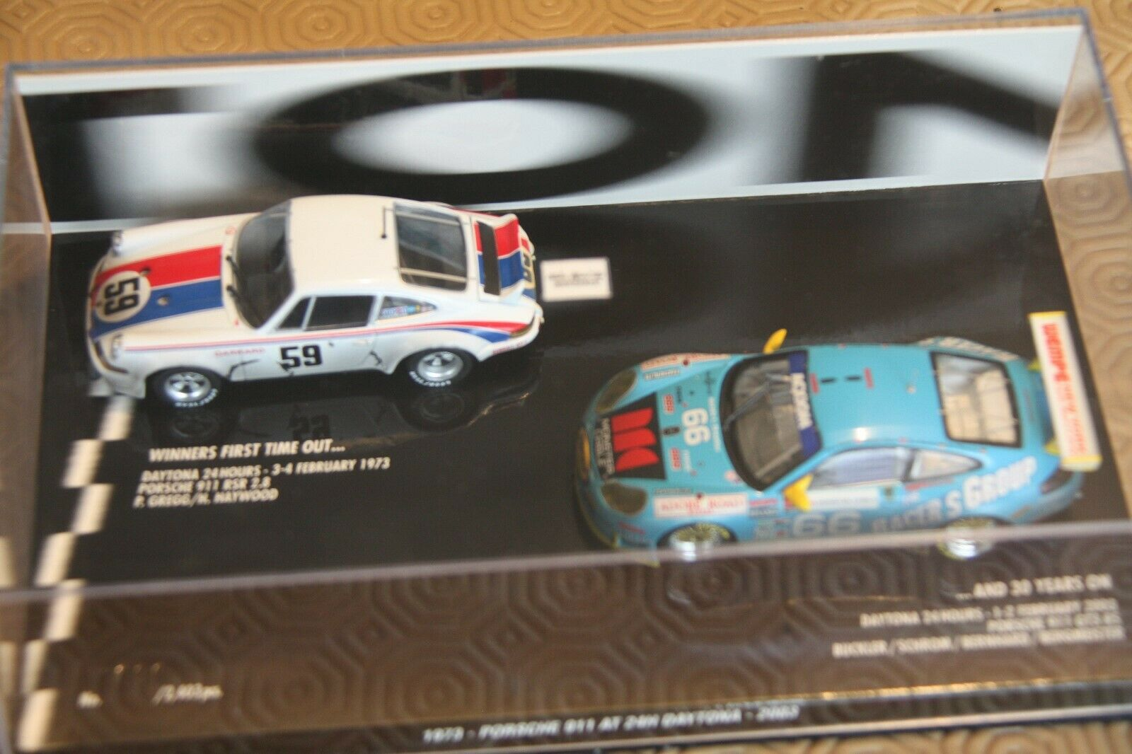 promocionales de incentivo Porsche 911 RSR et GT3 RS  24H daytona daytona daytona 1973 et 2003  die cast 1 43 Minichamps  Venta en línea precio bajo descuento