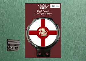 Classic Car Badge & Bar Clip ST GEORGE DRAGON ENGLAND - Ulma Vigano B1.2153