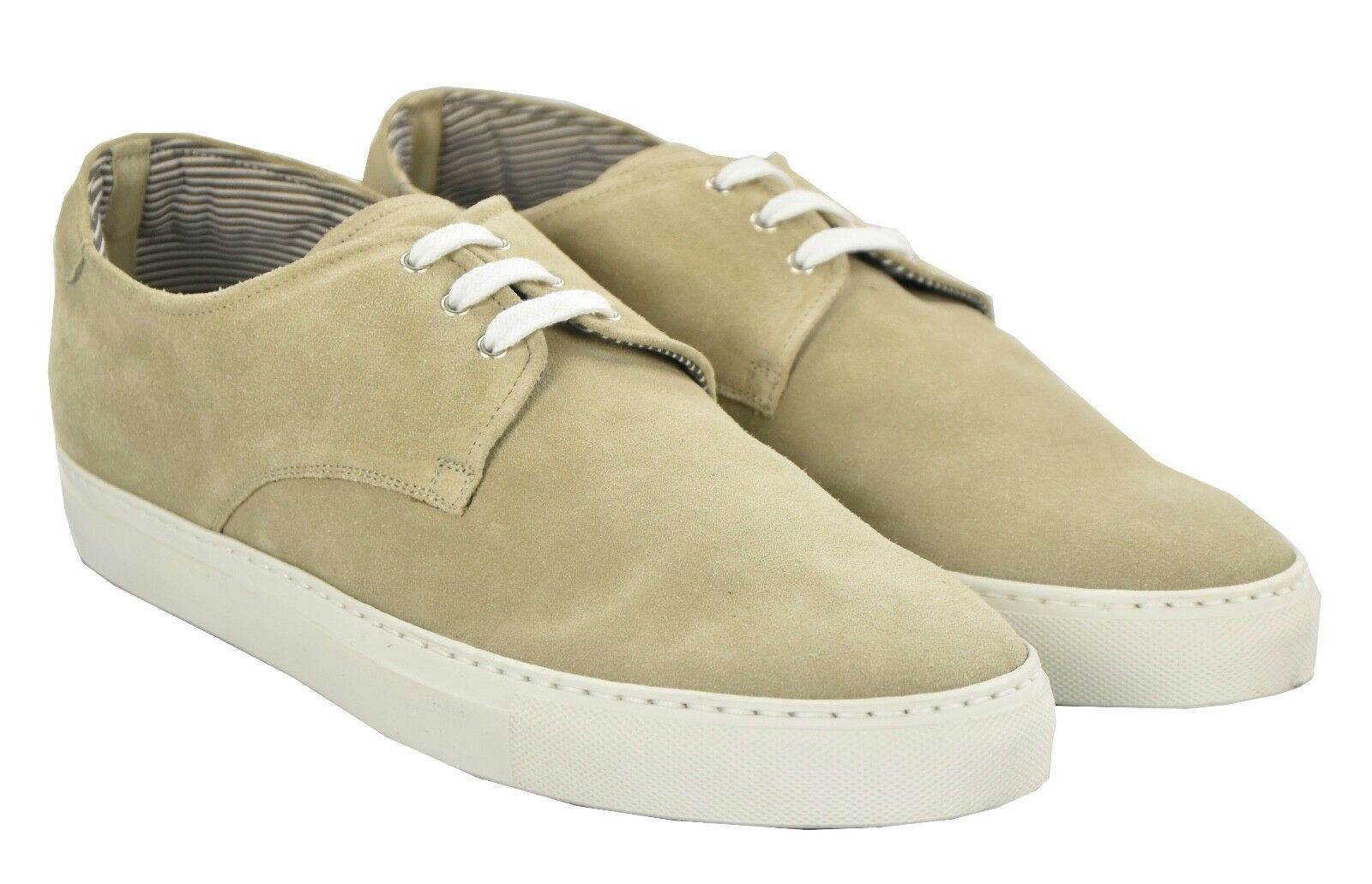 NEW KITON NAPOLI SNEAKERS SHOES 100% LEATHER SUEDE SIZE 10 US 43 O66