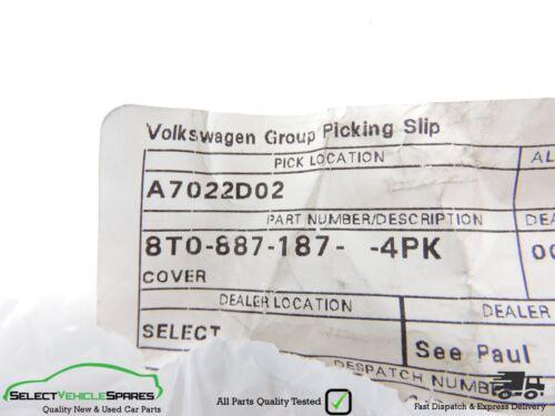 2008-2015 AUDI A4 B8 NEW REAR SEAT ISOFIX CAR CHILD SEAT COVER TRIM CAP PAIR