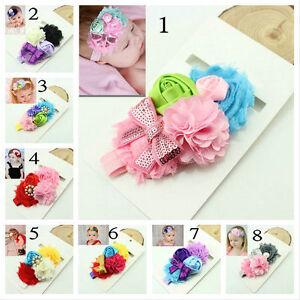 mixed colors newborn flower headband baby girl headwear