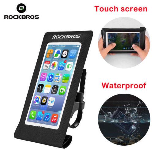 RockBros Cycling Waterproof Handlebar Bike Head Phone Bag TouchScreen Phone Case