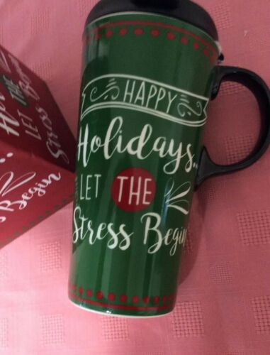 Cypress Refresh 17 Oz Ceramic Travel Mug With Lid And Gift Box 2 To Choose From
