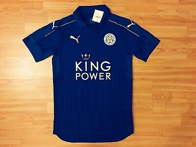 PUMA Leicester City Youth Home Jersey Blue