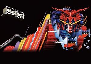judas priest defenders of the faith repro poster ebay. Black Bedroom Furniture Sets. Home Design Ideas