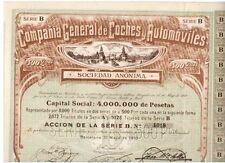 Compania General de Coches y Automoviles 1910 Barcelona