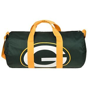 7563794cc107 GREEN BAY PACKERS VESSEL BARREL DUFFLE GYM BAG NEW STYLE TRAVEL ...