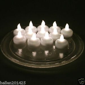 12pcs water proof flameless floating led tealight candle light battery operated. Black Bedroom Furniture Sets. Home Design Ideas