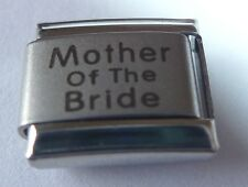 MOTHER OF THE BRIDE Italian Charm Wedding Party 9mm fits Classic Bracelets N138