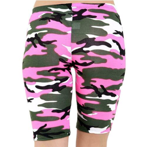 Femmes Armée Léopard Crâne Imprimé Cyclisme Hot Jersey stretch Pantalons Shorts