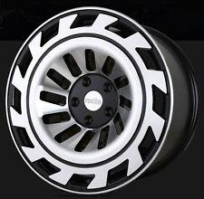 18X8.5 Radi8 T12 5x112 +40 Black Machined Rims Fits VW cc eos golf jetta gti