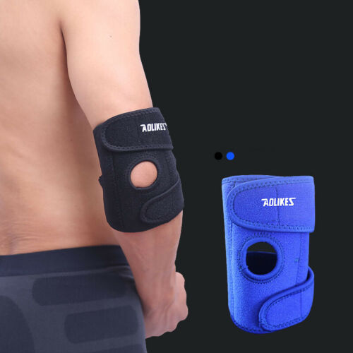 Arm Band Elbow Brace Safety Protection Support Pads Wraparound Adjustable