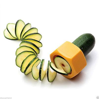 Yellow Creative Kitchen Gadget Spiral Cucumber Slicer Nut Shape Vegetable Cutter