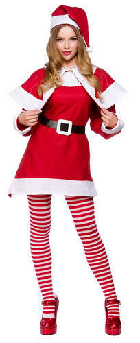 Mrs Santa Claus Ladies Christmas Fancy Dress Xmas Womens Adults Costume Outfit