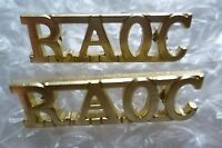 Staybrite Royal Army Ordnance Corps Shoulder Title Badge, RAOC, PAIR (A/A Org)