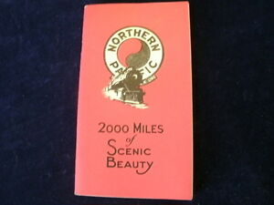 Vintage 1938 Northern Pacific Railroad 2000 Miles of Scenic Beauty Brochure R206