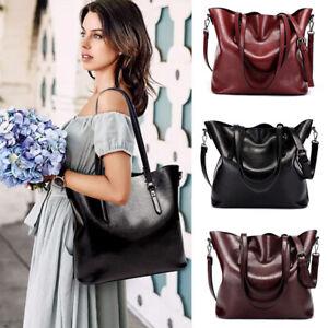 Women Leather Handbags Shoulder Messenger Satchel Crossbody Lady Tote Bag Purse
