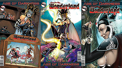C One-Shot 3 COVER SET Nice NM New WONDERLAND AGE OF DARKNESS Covers A B
