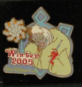 Details about DISNEY WDW WINTER 2005 CRUELLA DE VIL 101 DALMATIANS SURPRISE LE 1000 PIN