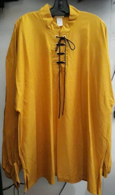 Pirate//Renaissance Drop Yoke Men/'s Shirts-Several colors NOW up to 5XL size