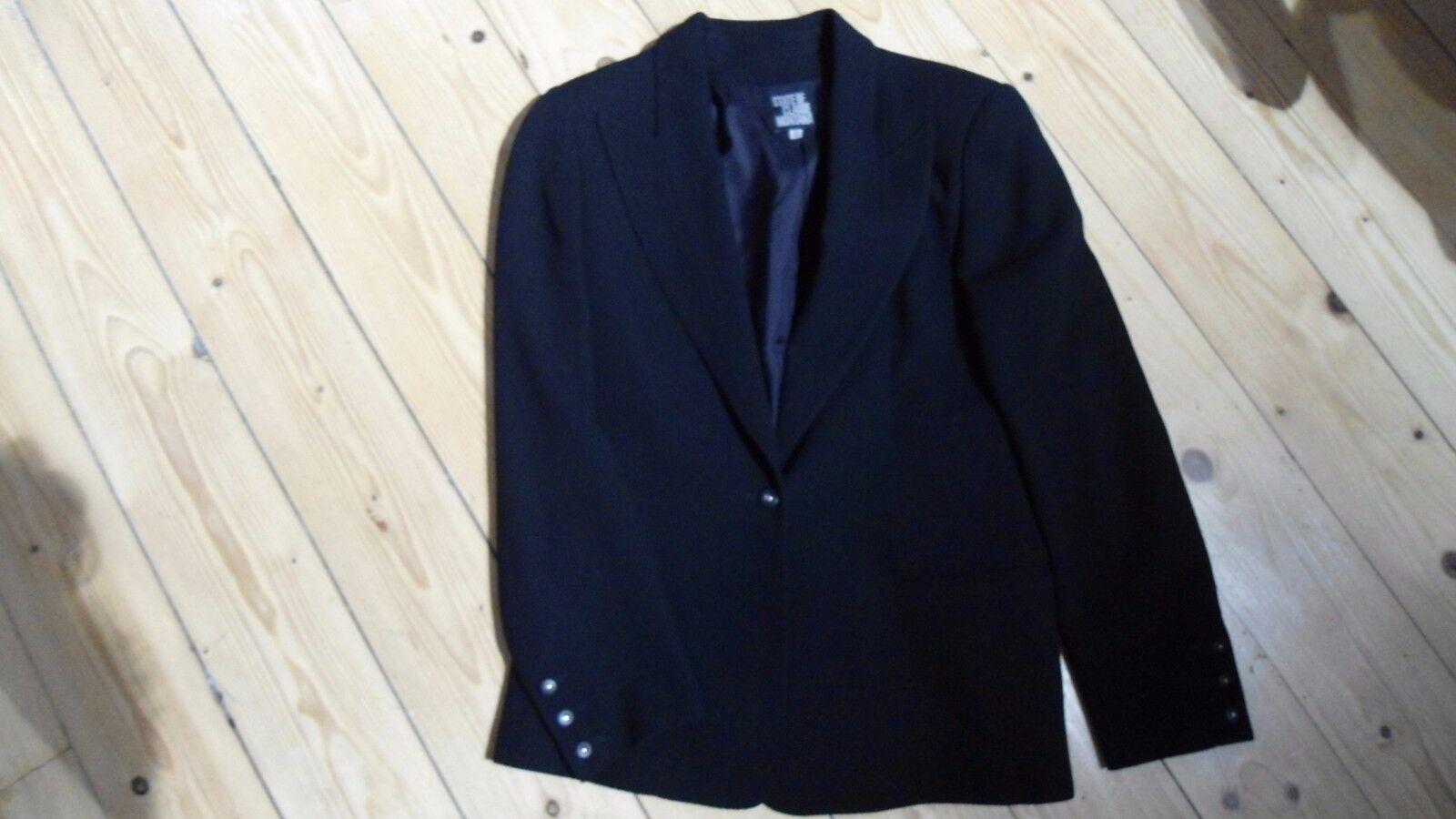 Luxus Designer Blazer State of Claude Montana Jacke schwarz Gr 38 it. 44 NEU