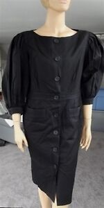 Vintage-Carolyne-Roehm-Black-Dress-size-10-made-in-USA