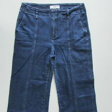 Country Road Jeans Womens Size 14 L26 Capri High Rise Loose Straight Dark Blue