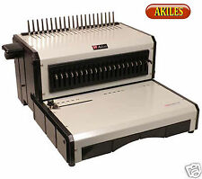 Akiles Alphabind Ce Electric Punch Amp Binding Machine For Comb Spines 12 New