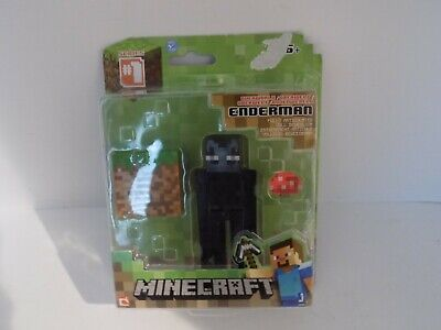 "Minecraft Overworld Enderman 3"" Figure Accessories~Fully Articulated~Series 1"