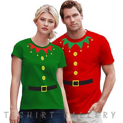 Christmas Elf T-Shirt Top Tee Gift Girls,Ladies,Mens Fancy Santa Xmas Novelty