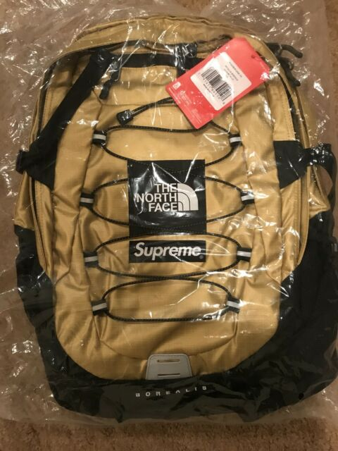 add3afe2f365 Supreme The North Face Metallic Borealis Backpack Gold 2018 Ss18 for ...