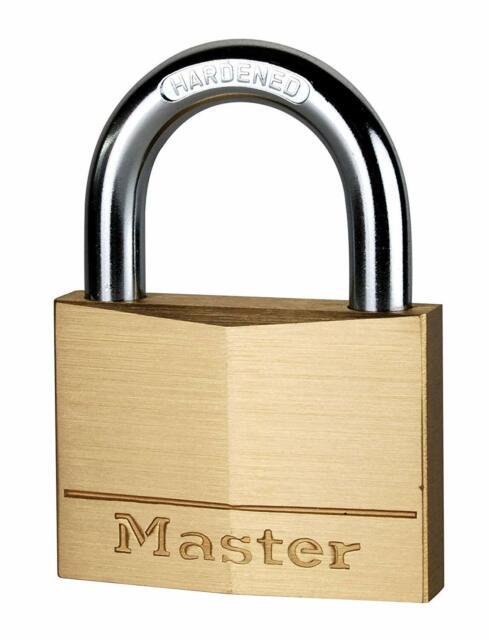 Master Lock Cadenas Verrou Antivol Sécurité Laiton Massif 60 mm *NEUF*