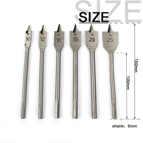 Details about  /6Pcs Wood Hole Saw Drill Bit Set Kit Carbide Tip Woodworking Cutter Tool 10-25mm