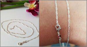 5-Stk-gedrehte-Kette-Halskette-45cm-925-Silber-pl-2-mm-Schmuck-Posten-Haendler
