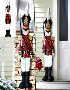 Outdoor Tin Soldier 2 Christmas Wall Door Decoration Holiday Yard